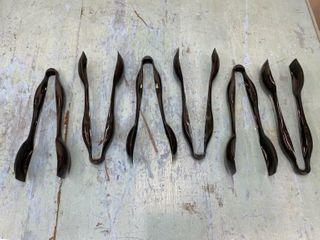lot Of 7 Cambro Black Plastic Serving Tongs