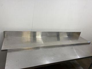 HD S S Wall Shelf   72  x 14  W  5  Backsplash