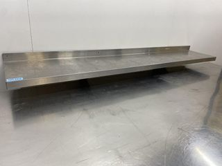 HD S S Wall Shelf   48  x 12  W  5  Backsplash