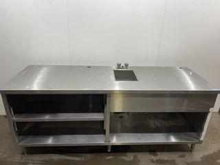 Custom S S Prep Station With Handsink 85  x 29