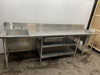 Custom S S Prep Station With Dual Sinks 120 x 30