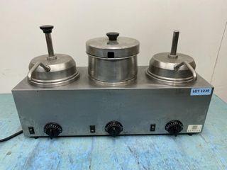 Server 3 Well Topping Dispenser W  2 Pumps