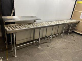 Never Used 14  S S Dishwasher Conveyor Tabling