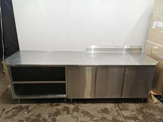 All S S Custom Fabricated Prep Counter W  Doors
