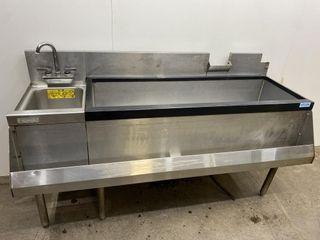 Perlick 60  Cocktail Bar Sink W  Handsink   Rail