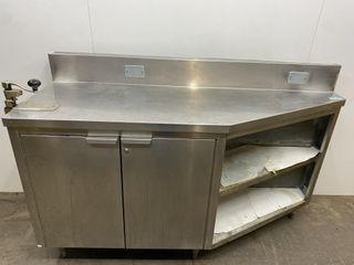 Custom 63  x 22  S S Cabinet W  6  Backsplash