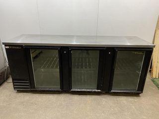 True TBB 4 90  3 Glass Door Back Bar Cooler