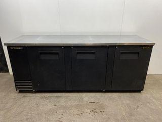 True TBB 4 90  3 Door Back Bar Cooler