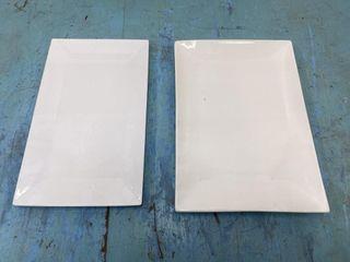 lot Of 2   15  Rectangular Platters