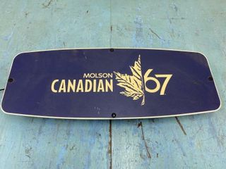 Molson Canadian 67 light Up Beer Sign