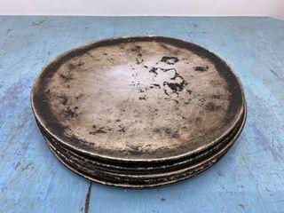 lot Of 10   14  Aluminium Pizza Flash Pans