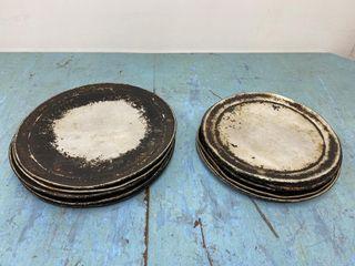 lot Of 10  12  Aluminium Pizza Flash Pans