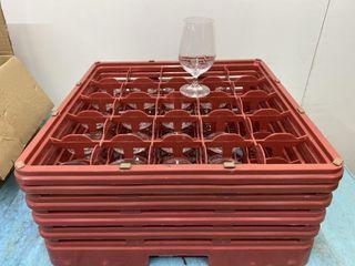 Short Stem Beer  Water Glass   Rack Included