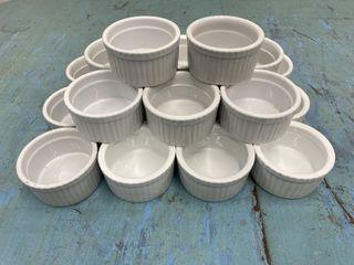 lot Of 20   3 5  Porcelain Ramekins