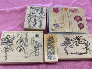 RUBBER STAMPS  FlOWERS