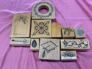 VARIETY OF RUBBER STAMPS