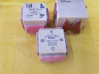 3 4 SIDE MISCEllANOUS RUBBER STAMPS