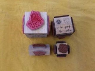 MISCEllANOUS RUBBER STAMPS CUBES