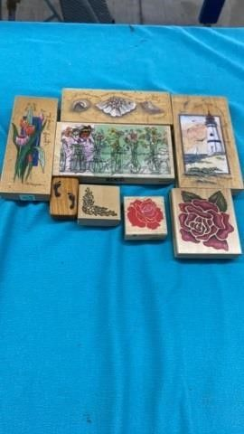 8 RUBBER STAMPS