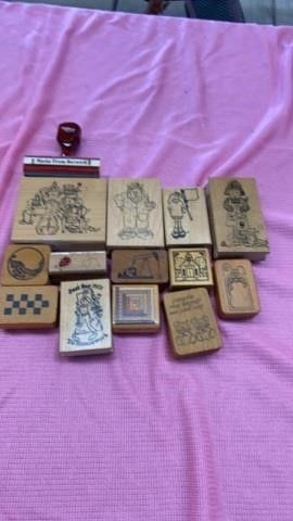 VARIETY OF DIFFERENT RUBBER STAMPS