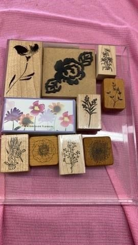 FlORAl RUBBER STAMPS