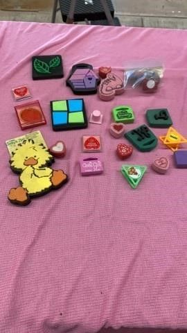 VARIETY OF RUBBER STAMPS SPONGY
