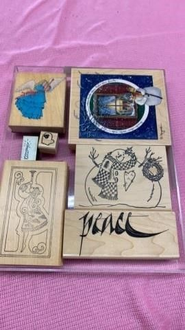 CHRISTMAS  WINTER RUBBER STAMPS