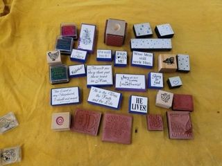 4 SIDED RUBBER STAMP  RElIGIOUS RUBBER STAMPS