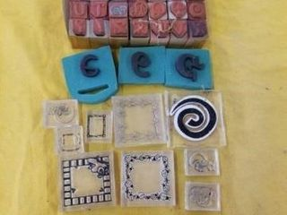 ABC STAMPS AND MISCEllANOUS RUBBER STAMPS