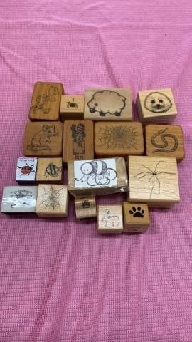 ANIMAlS AND BUGS RUBBER STAMPS