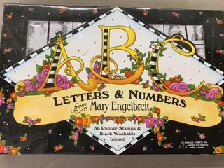 SET OF ABC lETTERS AND NUMBERS RUBBER STAMPS AND