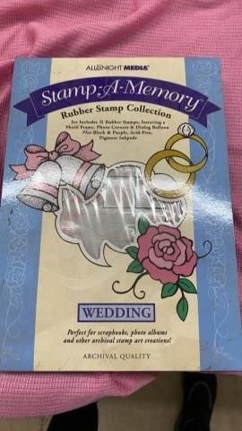 STAMP A MEMORY WEDDING RUBBER STAMP SET