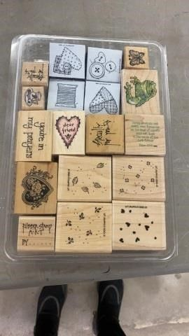 SET OF ASSORTED RUBBER STAMPS
