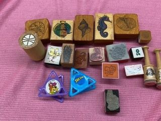 SEA CREATURES  MISC AND JEFF RUBBER STAMPS