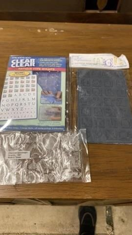 2 ClEAR STAMP SETS AND ART IMPRESSIONS lETTER SET