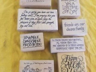 9 THINKING OF YOU STAMPS