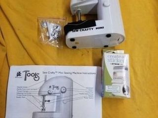 SEW CRAFTY MINI SEWING MACHINE  AND CREATE A