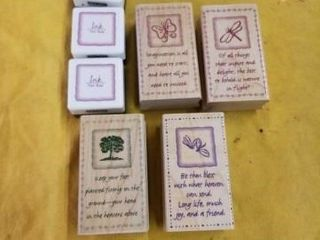 INSPIRATIONAl RUBBER STAMPS AND RED AND GREEN INK