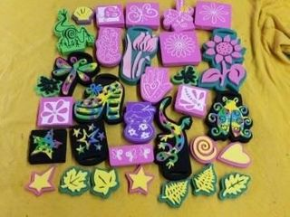 MISCEllANOUS SPONGY RUBBER STAMPS