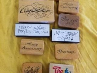 SPECIAl GREETINGS RUBBER STAMPS