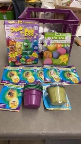 EASTER EGG   DYING KITS AND CUPS