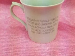 PRECIOUS MOMENTS  FEBRUARY  COFFEE CUP