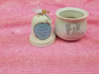 PRECIOUS MOMENTS  BEll AND POTPOURRI POT