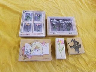 VARIOUS FlOWERS RUBBER STAMPS