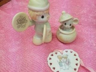PRECIOUS MOMENTS  SAMUEl J BUTCHER FIGURINES