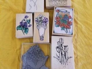 PRETTY FlOWER RUBBER STAMPS