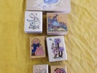 CUTE GIRl RUBBER STAMPS