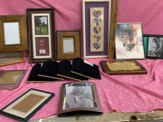ASSORTED PICTURE FRAMES   PICTURES AND FOUR