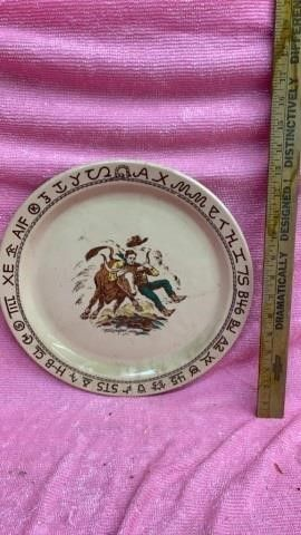 WESTWARD HO RODEO PATTERN WAllACE CHINA PlATE