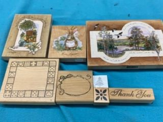 8 VARIETY RUBBER STAMPS